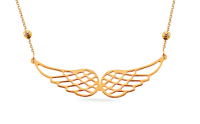 angel wings gold necklace images Gold angel wings necklace for women iz15047 gjewelry co uk jpg