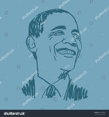 portrait president usa barack obama vector stock vector 310302890