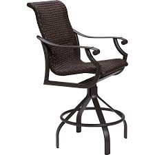 Outdoor Swivel Bar Stool Montreux Woven Swivel Bar Stool Tropitone