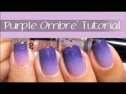easy purple ombre nail art design tutorial youtube