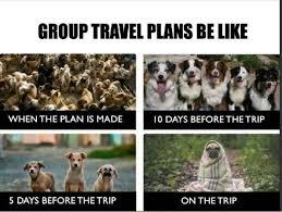 Group travel plans be like meme xyz