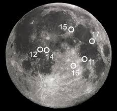 Moon Map From The Earth To The Moon13 A Map Of The Apollo Landing Sites On