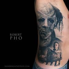 haloweeen michael myers tattoo skin design tattoo