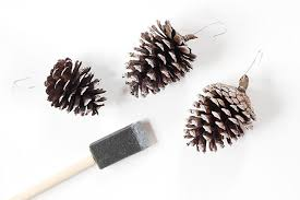 we can make anything frosted pinecone ornaments