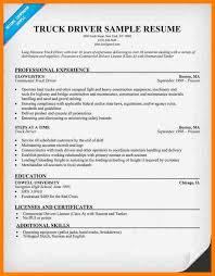 Truck Driver Resume Example 5 Truck Driver Resume Example Sephora Resume
