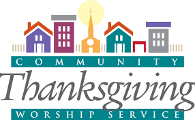 community thanksgiving service is this monday at 7pm