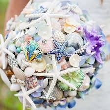 wedding bouquets with seashells seashell bouquets archives bouquet wedding flower