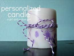 personalized candle kid craft monday a and a glue gun