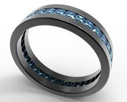mens princess cut diamonds wedding ring vidar jewelry unique black gold princess cut blue wedding band for him vidar