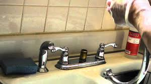 Moen Two Handle Kitchen Faucet Repair Moen High Arc Kitchen Faucet Repair Leaking Bad O Ring Youtube