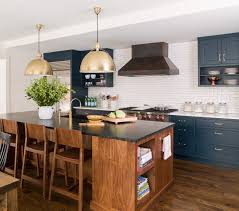 a navy blue kitchen reveal