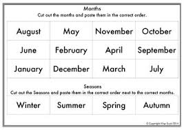 months u0026 seasons ordering cut and paste by elise u0027s resources tpt