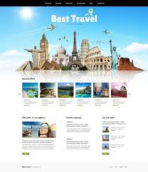 traveling websites images Website template 46634 best travel agency custom website template jpg