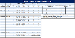 schedule format archives schedule templates