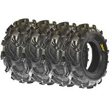 full set 4 sunf 2 26x9 12 2 26x11 12 atv utv mud tires 6 pr