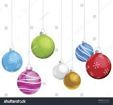 multicolored ornaments on white background stock vector