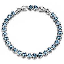 bracelet crystal tennis images Valentines day gifts for her bracelet ladycolour blue jpg