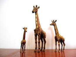 lion statue home decor giraffe statue home decor lovely vintage brass giraffe statue by