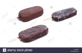 different chocolate coated blocks of stock photo
