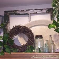Top Of Kitchen Cabinet Decorating Ideas by Like The Old Windows Need Above The Kitchen Cabinets Or Laundry