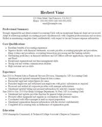Sample Resume Accounting Clerk by Download Samples Of Resume Objectives Haadyaooverbayresort Com