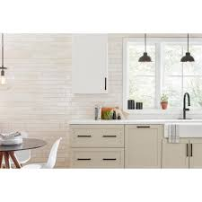 antique white kitchen cabinets with subway tile backsplash marazzi arteko antique white 3 in x 12 in glazed ceramic