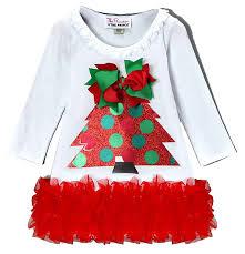 ruffled christmas tree baby little girls girls christmas dresses