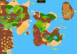 World Map Labled by Zelda Ii The Adventure Of Link World Map