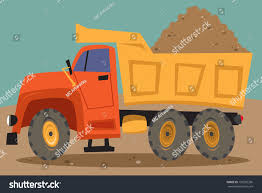 dump truck pile dirt stock vector 150296336 shutterstock