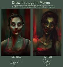 Meme Zombie - draw this again meme zombie girl by charlotvanh on deviantart
