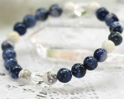 lucky crystal bracelet images Koufukunoisi howlite bracelet sodalite mother of pearl crystal jpg