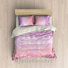 blush pink duvet cover abstract bedding set comforter
