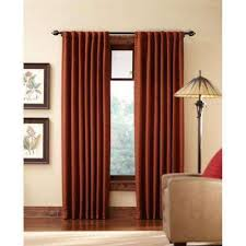 And Orange Curtains Orange Curtains Drapes Window Treatments The Home Depot