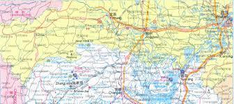 China Province Map Of Hunan Province China