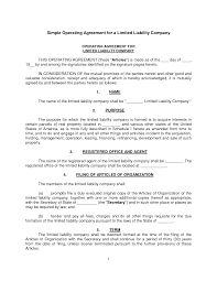 simple llc operating agreement texas llc operating agreement