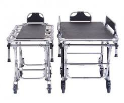 funeral supplies manual stretcher trolley height adjustable bariatric