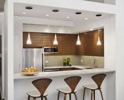 bar amazing clean lines modern kitchen decorating ideas using