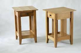 side table narrow bedside table dark wood hemnes nightstand