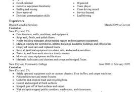 Janitorial Resume Examples by Cleaning Job Description For Resume Reentrycorps
