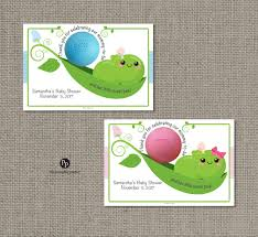 pea pod sweet peas baby shower favors for eos lip balm