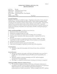 Information Desk Job Description Starbucks Barista Responsibilities Resume Free Resume Example