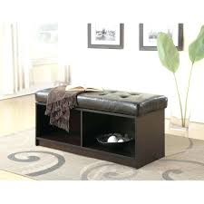 Large Storage Coffee Table Ottoman Round Faux Leather Ottoman Attractive Living Room