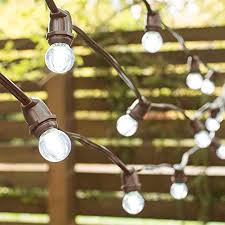 globe string lights brown wire commercial grade globe string lights 100 foot brown wire 125 inch