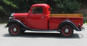 ford truck red impulse buy 1936 ford pickup classic classics groovecar