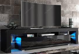 modern tv cabinets modern tv unit 200cm cabinet black matt and black high amazon co
