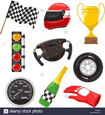 f1 race car icons with race helmet f1 flag f1 speedometer f1