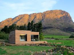 fabulous prefab home design with cream wood wall design and