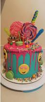 emoji birthday cake drip cake candy cake facebook com 27cakes