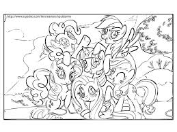my little pony birthday coloring page marvelous my little ponies coloring pages printable pony for kids