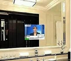 Flat Bathroom Mirrors Mirror Glass For Tv Magic Advertising Screen